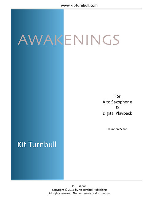 Awakenings - A4 PDF Score