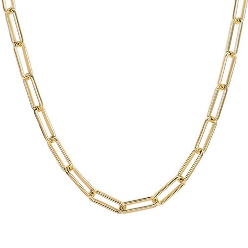 Wholesale gold plated rectangle paperclip chain