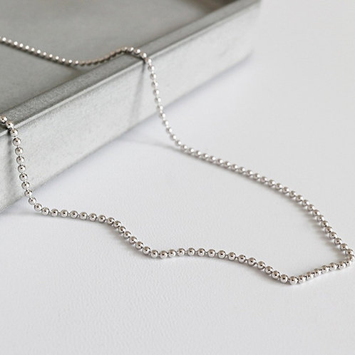 Wholesale sterling silver beads chain 1mm
