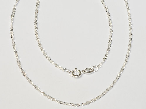 Wholesale sterling silver singapore rope chain