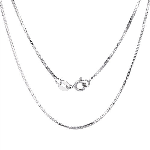 Wholesale sterling silver box chain 1mm