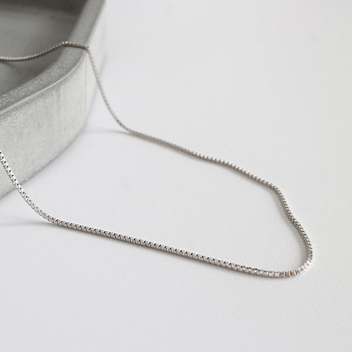 Wholesale sterling silver box chain 1.5mm