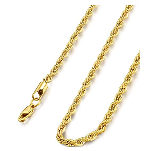 Wholesale gold plated rope chain