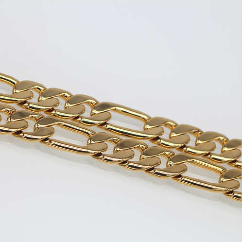 Wholesale gold plated Figaro chain