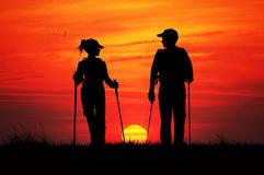 nordic-walking-sunset-illustration-61347482