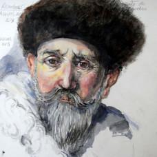 Estudiando a Rembrandt.