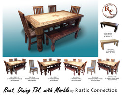 47-Marble Top Dining Table