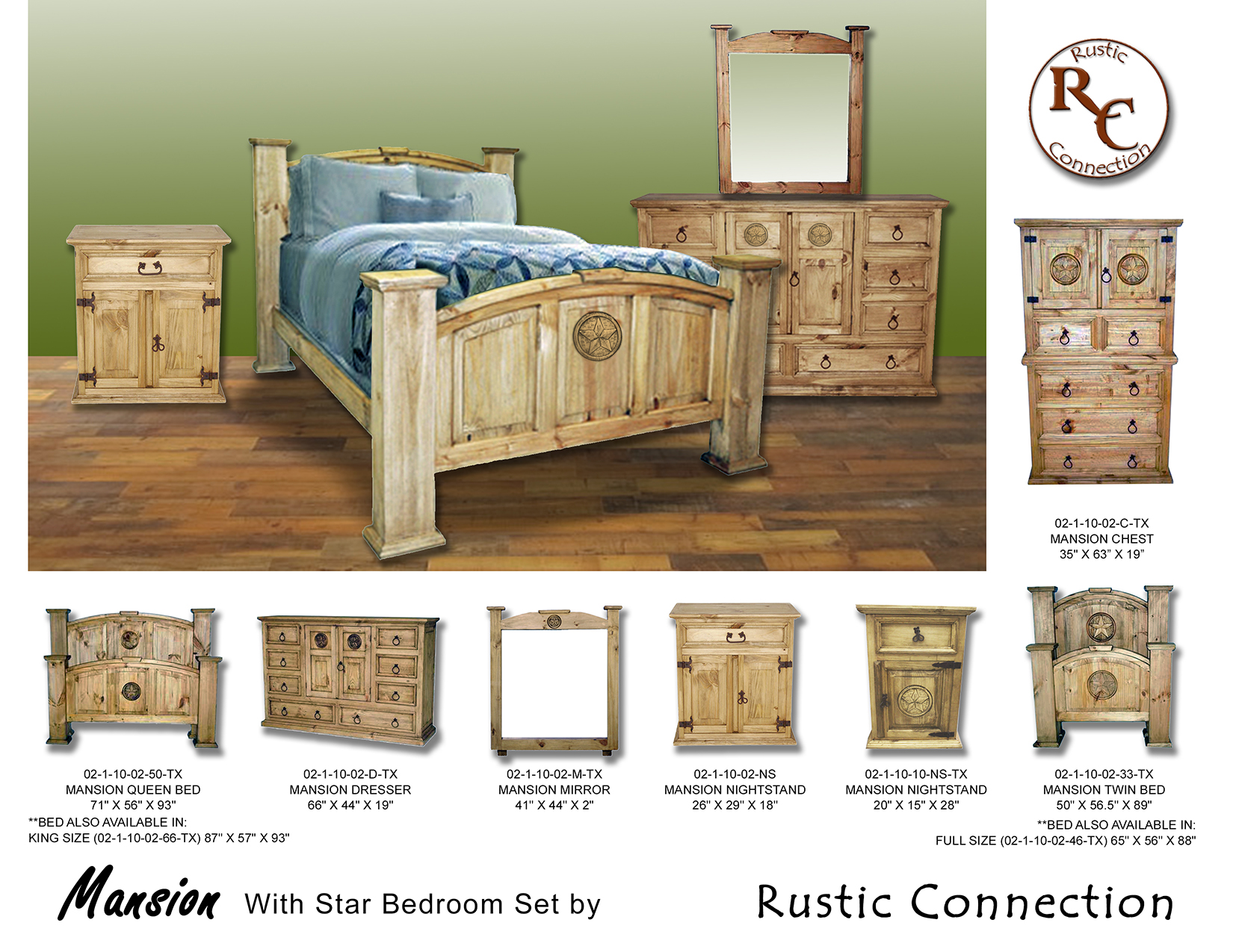 04-Mansion Bed Set-TRAD WAX with Star