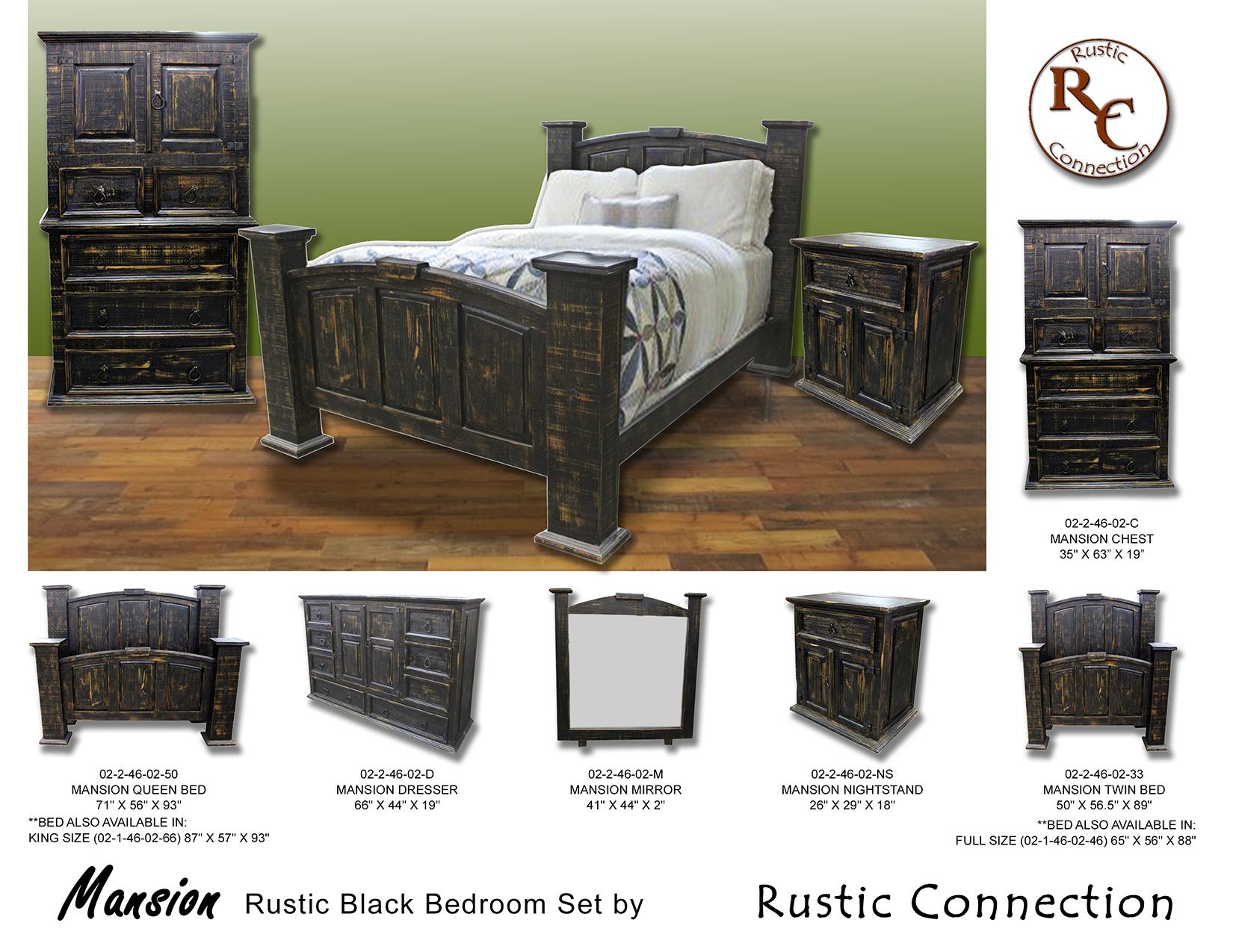 07-Mansion Bed Set-Black