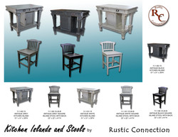 31-Gothic Kitchen Island and Stools