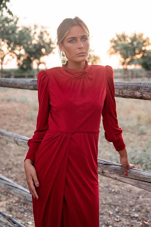 Vestido Adelaida Burdeos