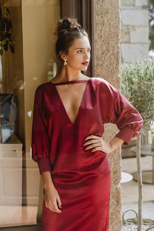 Vestido Bárbara Granate