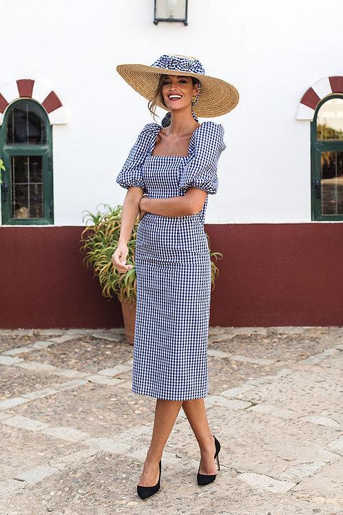 Vestido Vichy Marino