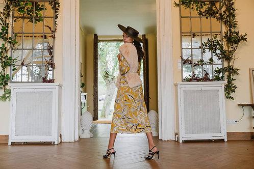 Vestido Kimono Mariola Mostaza