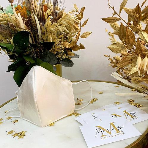 Mascarilla beige elegante