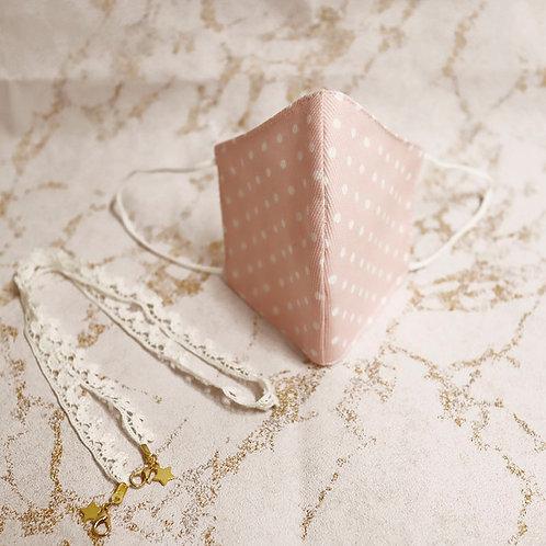 PACK Mascarilla rosa+ Cadena para mascarillas y gafas