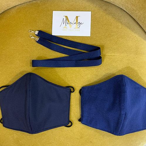 PACK Mascarillas HOMOLOGADO  azules + Cadena para mascarillas y gafas