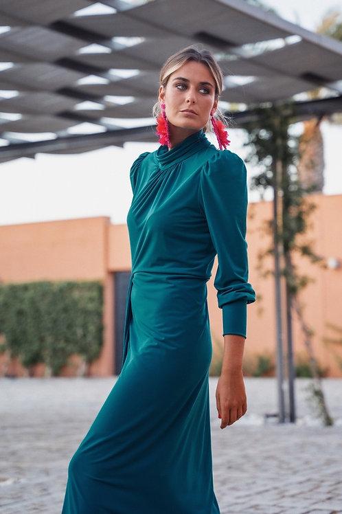 Vestido Adelaida verde esmeralda