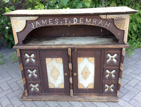 A spectacular 19thC Canadian six-drawer pantry cupboard, James T. Demrah
