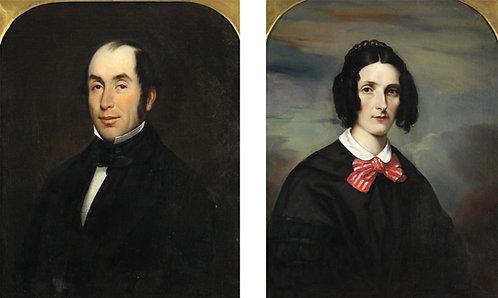 Theophile Hamel (Canadian 1817-1870) Isabella & William Baldwin of Toronto