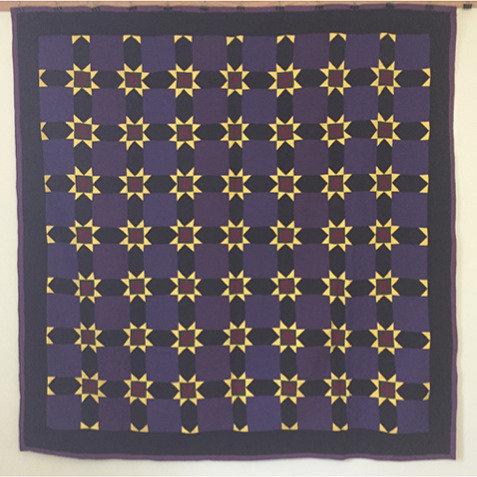 A Mennonite Variable Star quilt, Floradale, Ontario, Waterloo County, c1930-40