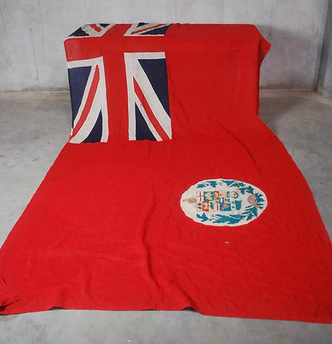 A rare & impressive 19thc Canadian Red Ensign flag with 7 provinces, c1873-1892