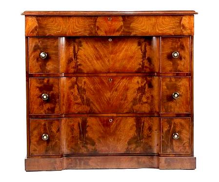 A fine Scottish William IV mahogany chest of drawers, William Trotter, c1830