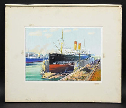 Hal Ross Perrigard (Canadian 1891-1960) Illustrations of the Old Port, Montreal