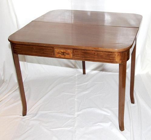 A Regency mahogany tea table, c1810