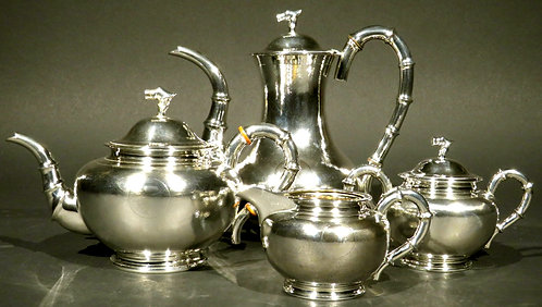 A fine Chinese export silver tea & coffee service by Hung Chong, circa 1900