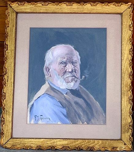"""Frederick Simpson Coburn """"The Habitant"""" original wc Illustration"""