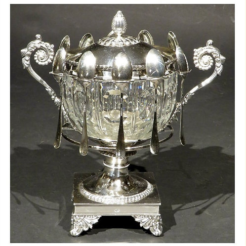 An early 19thC French silver confiturier by Charles Antoine Amand Lenglet