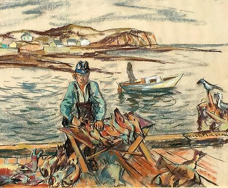 Henri Leopold Masson (1907-1996) Preparing the Catch