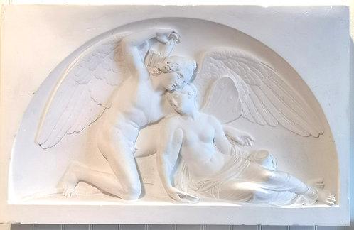 Museum cast after Bertel Thorvaldsen (Danish, 1770-1844) 'Eros & Psyche' c1900