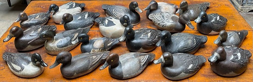 A selection of Québec decoys by LeBoeuf, Paquette, Laviolette, Cooper & Fournier