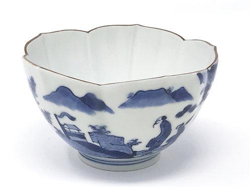 A 17th C Japanese Ai Kakiemon lotus bowl, 'Scheveningen', van Frijtom, c1690