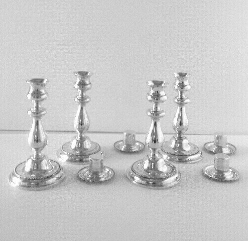 Four sterling silver presentation candlesticks, Wimbledon Championships, 1902