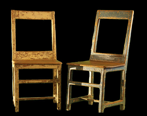 A group of six mid 19th C French 'Iles d'Orléan' chairs, Quebec City