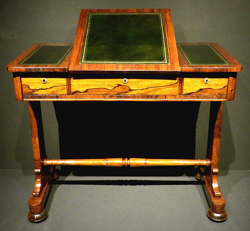 A fine 19th C Regency period rosewood writing table / sofa table, English c1825