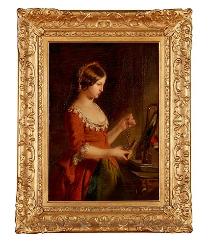 James Eckford Lauder RSA (Scottish, 1811-1869) The Jewel-Casket, c1850