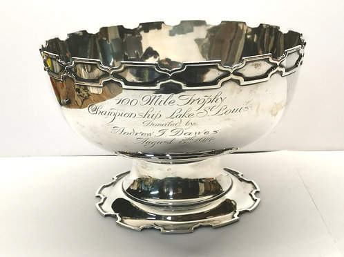 A Birks sterling silver sailing trophy, donated by Dawes Brewery family, Quebec