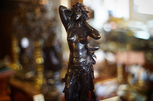 A 19th C French bronze statue of a nude maiden, circa 1890