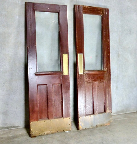 A pair of early 20th C doors from the Vancouver Court House, c1920