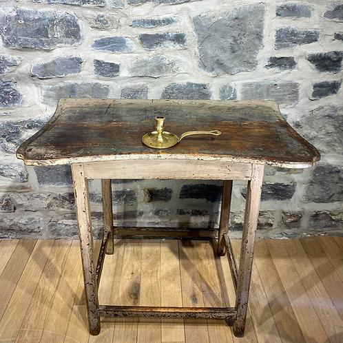 An exceptional Quebec small painted side table with tray top, circa 1820-30