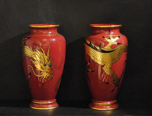An exceptional pair of Art Deco vases, Canadian Potteries Ltd, St. Johns Quebec