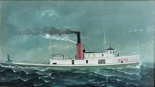"Howard Freeman Sprague (American, 1871-1899)  ""Wilcox"" Towboat"