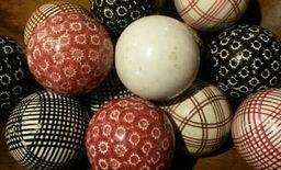 "Set of ""Porcelain Carpet Balls"""