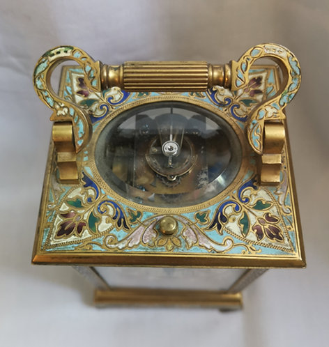 A fine late 19th Century Champleve Carriage Clock by E. Maurice & Co.