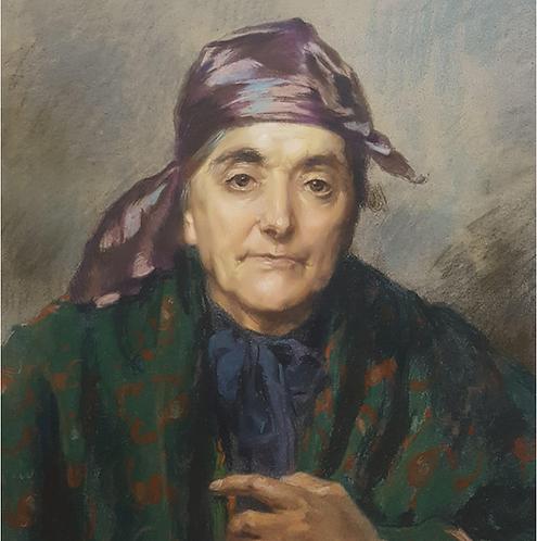 Abel Boyé (French 1864-1934) 'Vieille Gasconne' exhib. Salon des artistes, 1902