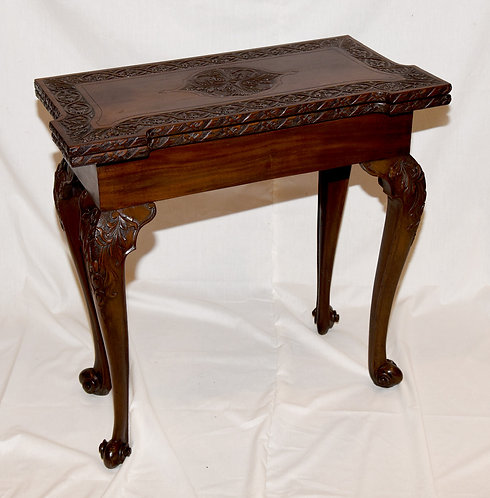 A George II mahogany tea table, c1750